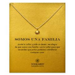 somos una familia starburst necklace, gold dipped