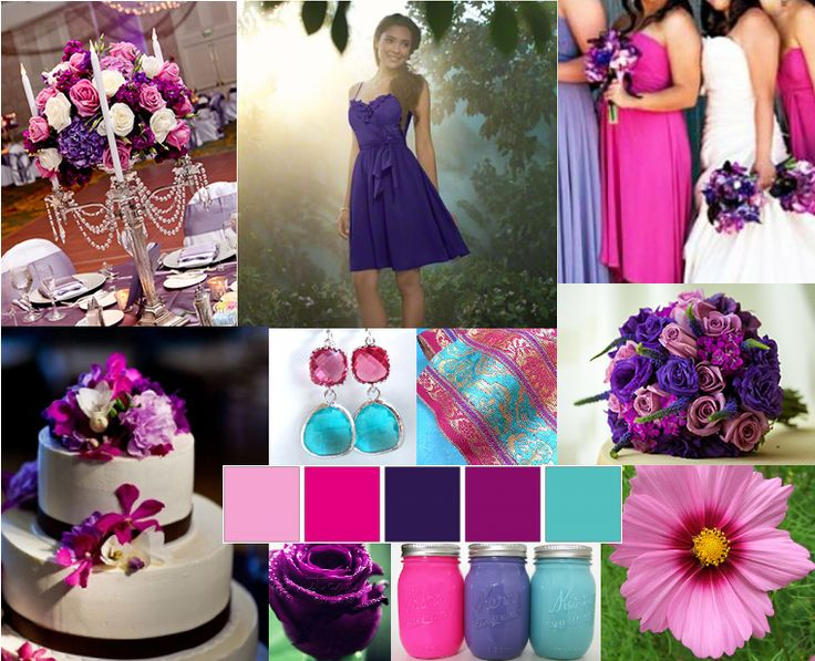 17 Best Images About Wedding Pink Fuchsia Color On
