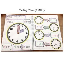 Interactive Math Notebook - Measurement & Data and Geometry