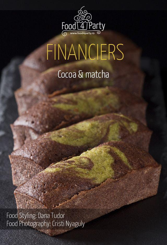 Financiers marble cocoa matcha