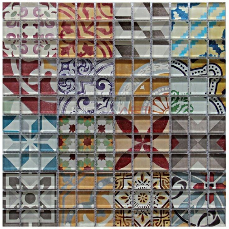 Casual 40 Modaarts Mosaic  Kristal Cam Mozaikler