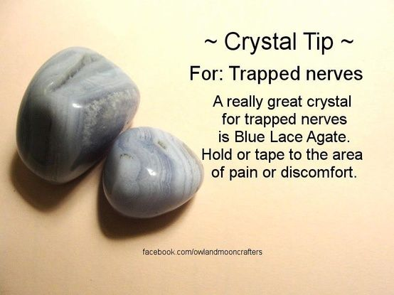 ✯ Crystal Tip: For Trapped Nerves ✯ https://www.etsy.com/ca/shop/MagickalGoodies