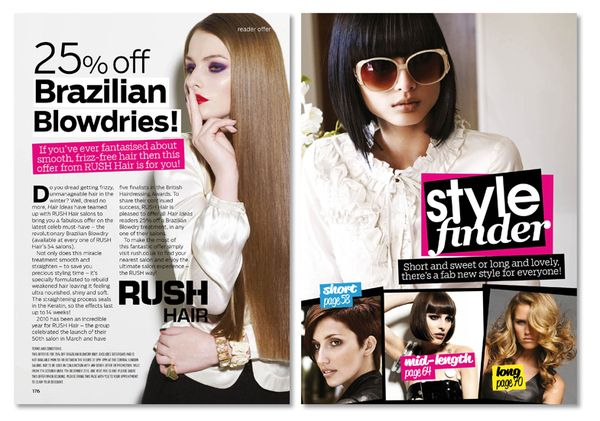Design: 'Hair Ideas Magazine' Page Layouts on Behance