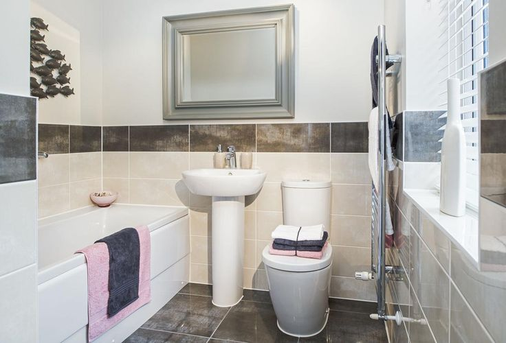 Taylor Wimpey   Typical Family Bathroom | Standard Tile Bathroom |  Pinterest | Family Bathroom And House