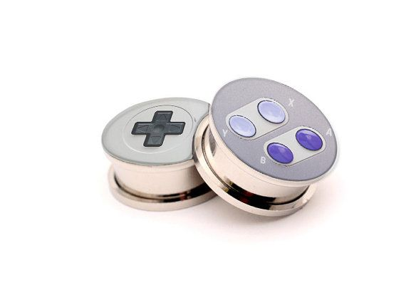 Hey, I found this really awesome Etsy listing at http://www.etsy.com/listing/160193052/snes-controller-screw-on-plugs-ear
