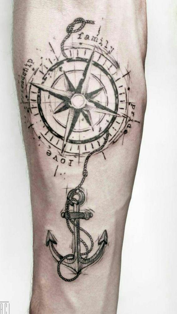 Windrose Tattoos Bilder | Tattoos – Ideen – Segelschiffe – #Ideen #Pictures … …   – Best Tattoo
