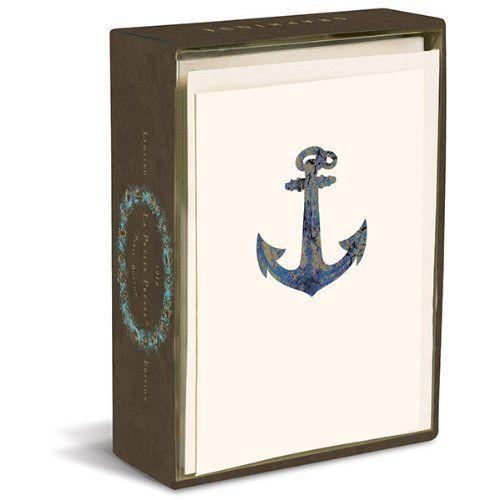 Graphique De France Anchor Note Card Set #WhimsicalUmbrella #Card #BabyShower #Kids #Gift whimsicalumbrella.com