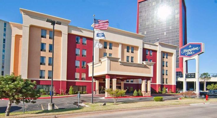 Hampton Inn Oklahoma City Northwest Oklahoma City This hotel is a 10-minute drive to downtown Oklahoma City and Oklahoma City University. The hotel features an indoor pool, full-service business center and in-room microwaves and refrigerators.