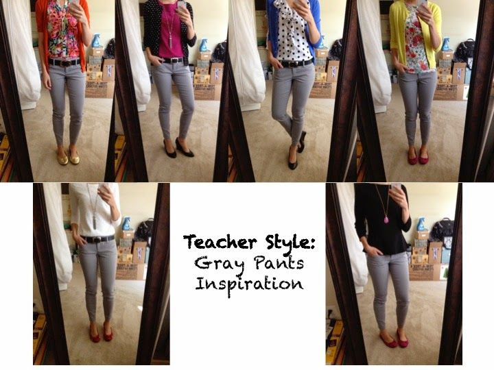 Teacher Style: Gray Pants Inspiration