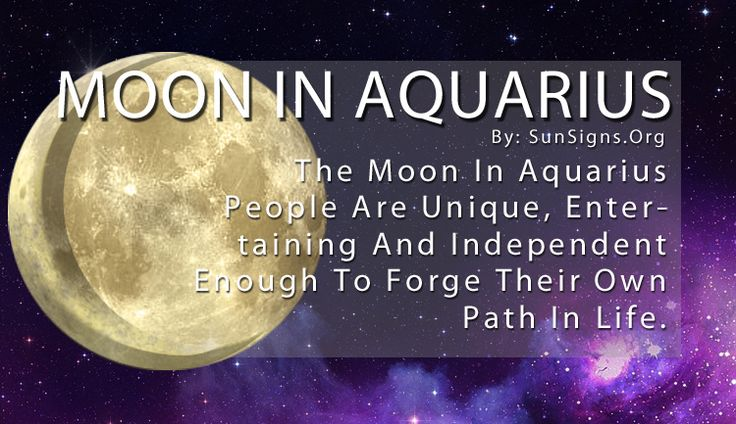 The word that comes to mind for the Aquarius zodiac sign is unusual, and they would agree! They revel in being quirky, and the Moon in Aquarius intensifies their need to be different from others. The Moon represents your emotions and innermost desires, and for Aquarius that includes pride in their uniqueness.
