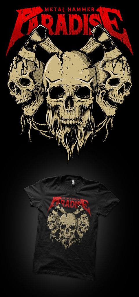 "Tshirt illustration for Metal Hammer's 2013 ""Paradise Festival"". www.bofagroup.com"
