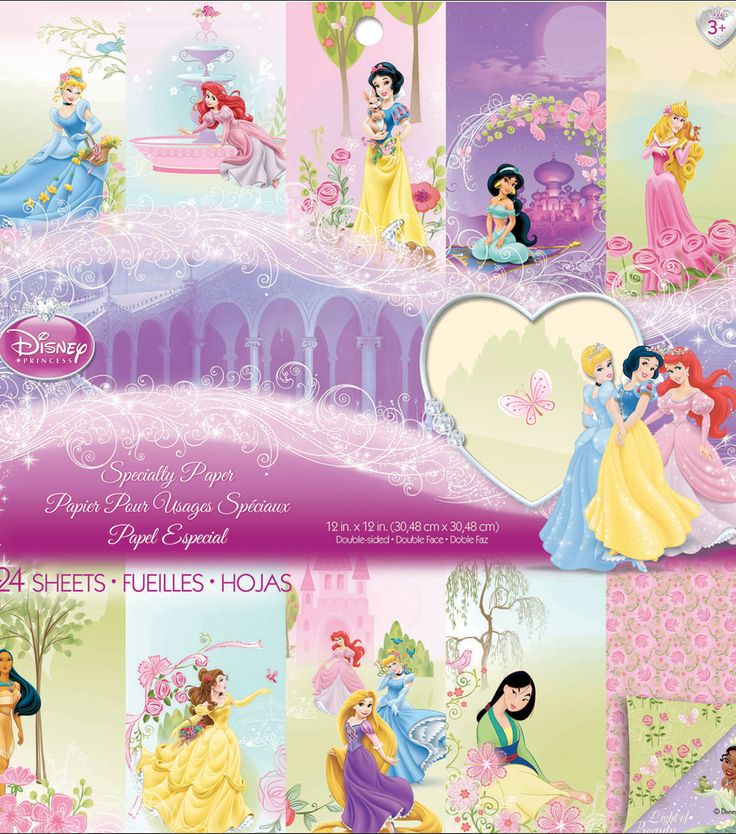 "Disney Princess Specialty Paper Pad 12""X12"" 24 Sheets-Disney Princess Specialty Paper Pad 12""X12"" 24 Sheets-,"