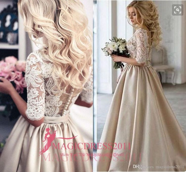 Gorgeous Champagne 2016 Prom Evening Dresses with Half Sleeve A-Line Sheer Neck Jewel Illusion Bodice Ruffled Formal Party Gowns Party Prom Dresses Beaded Formal Evening Gown Crystal Evening Gowns Online with 136.0/Piece on Magicdress2011's Store | DHgate.com