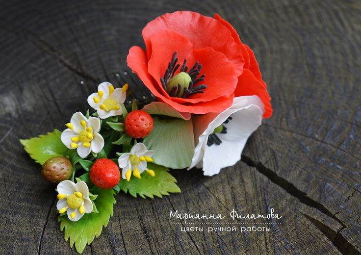 handmade flowers . cold porcelain.crest