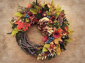 Dekorácie - Jesenny veniec - 5883858_