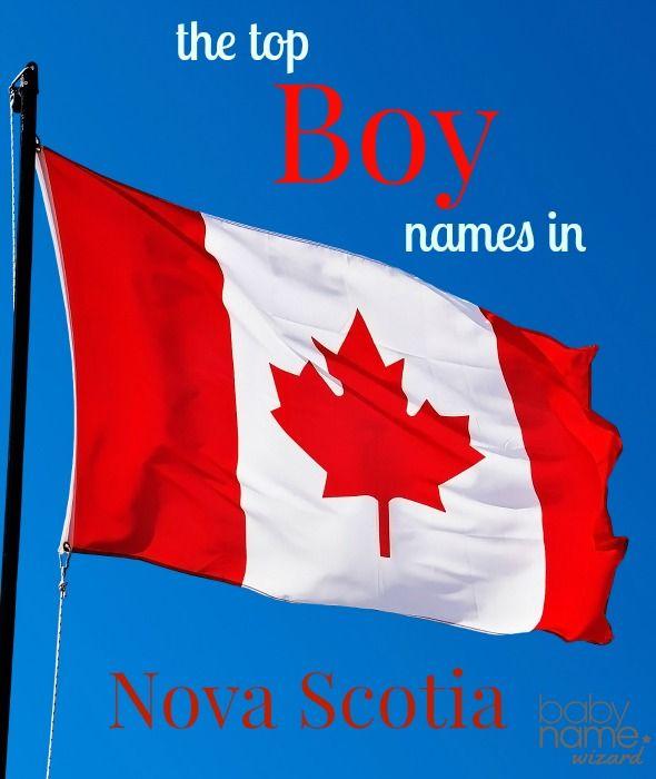 Most Popular Baby Names for Boys in Nova Scotia, Canada.  Including Benjamin, Carter, Gavin and many more!