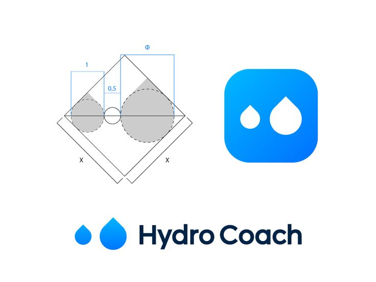 Logo concept for Hydro Coach (wip) by Vadim Carazan