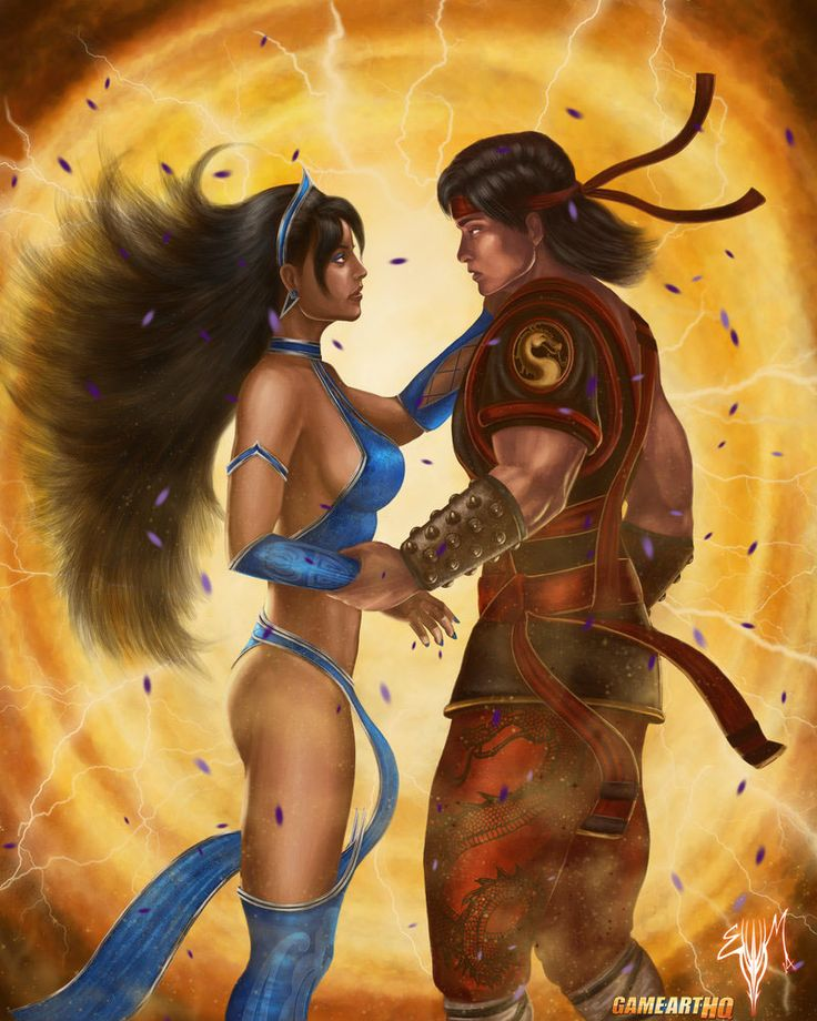 Liu Kang and Kitana