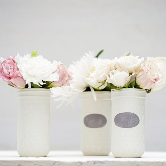 Wonderful porcelain vases on Etsy fashioned from vintage jelly jars.