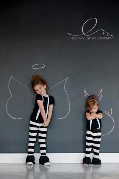 Chalkboard paint makes a fun backdrop for portraits! LOVE LOVE LOVE