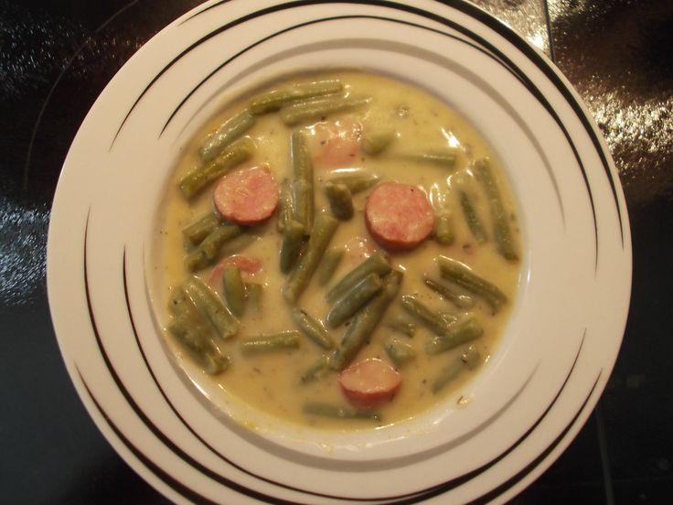 Rezept Grüne-Bohnen-Eintopf mit Mettwürstchen von Arwen - Rezept der Kategorie Suppen