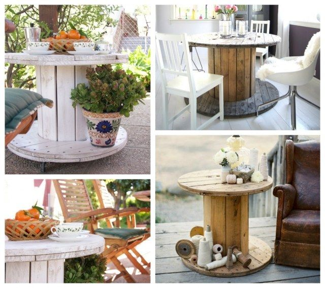 gartentisch holz ideen kabeltrommel upcycling projekt diy ceap and easy home dekor ideas. Black Bedroom Furniture Sets. Home Design Ideas
