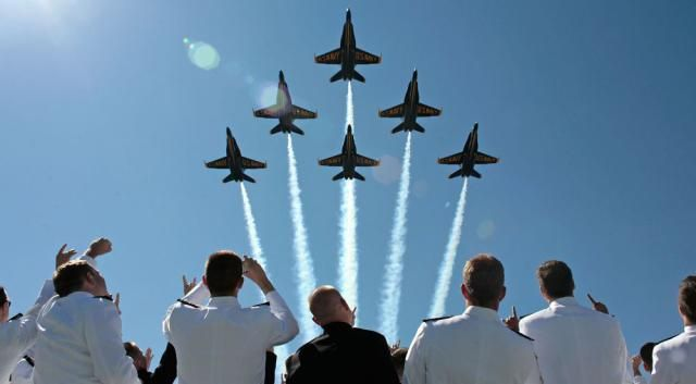 Watch the Spectacular US Navy Blue Angels Air Shows: Blue Angels and US Navy Grads