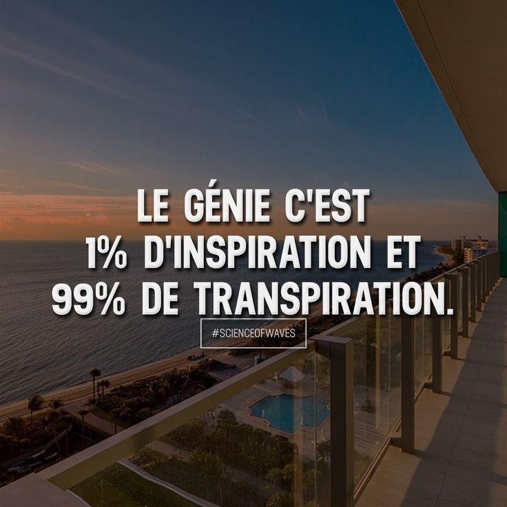 Le génie c'est 1% d'inspiration et 99% de transpiration. Aime et commente si tu es d'accord! ➡️ @scienceofwaves pour plus! #scienceofwaves