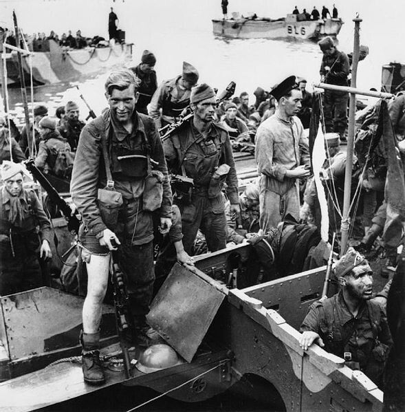 The few serving commandos return to Newhaven after the Dieppe raid.