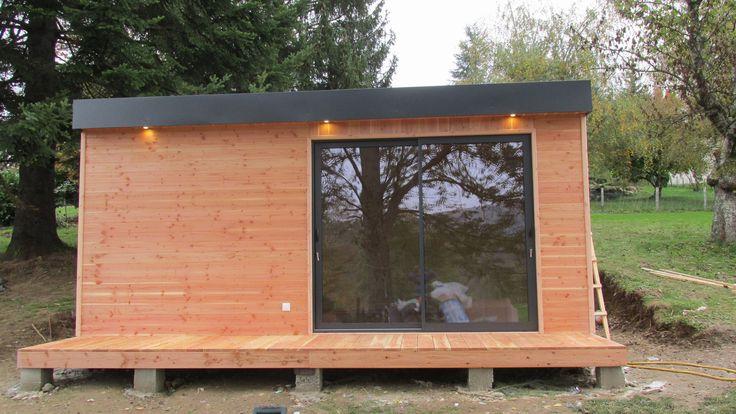 les 24 meilleures images du tableau studio de jardin chalet bois sur pinterest chalet bois. Black Bedroom Furniture Sets. Home Design Ideas