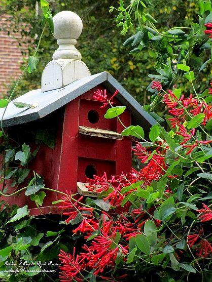 May Garden ~ Birdhouses (Garden of Len & Barb Rosen) Like the finial on top for added character.