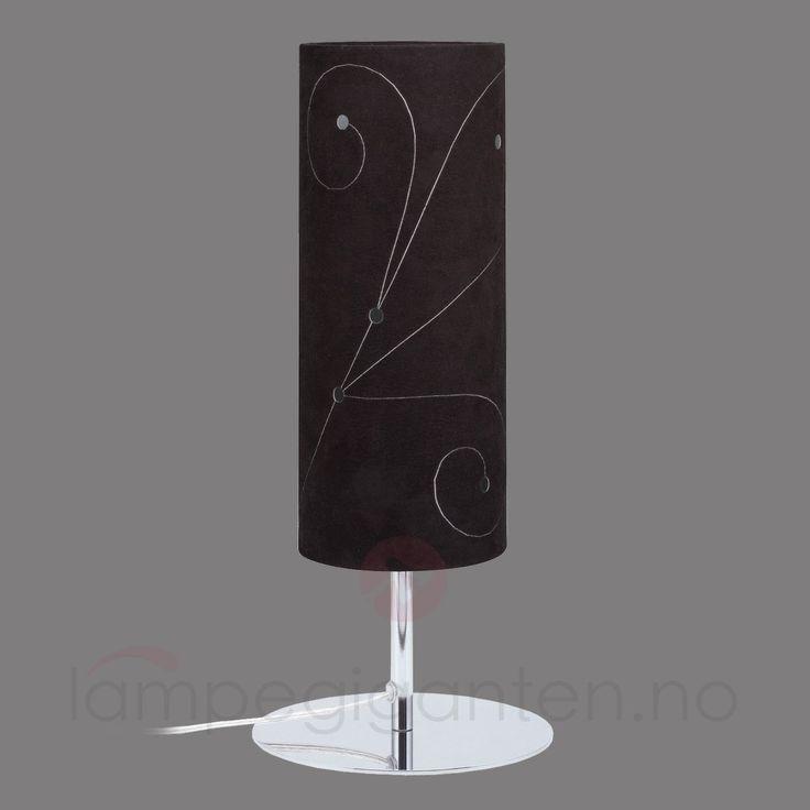 Dekorativ Cilento Braun bordlampe med ett lys 7600465
