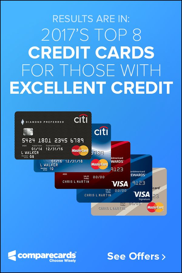 If you have excellent credit, there's no reason you shouldn't be getting the best credit card companies have to offer. Banks are fighting so hard for your business, they are giving away better and better rewards and perks each year. Check out what our experts' recommendations regarding what credit cards banks have come up with for 2017!
