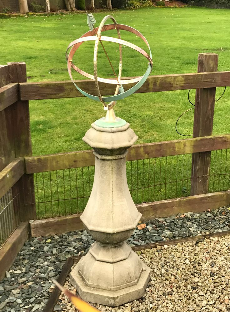 Large Marino Armillary Stone Sun Dial - Garden Sundial. Buy now at http://www.statuesandsculptures.co.uk/garden-sundial-large-marino-armillary-stone-sun-dial