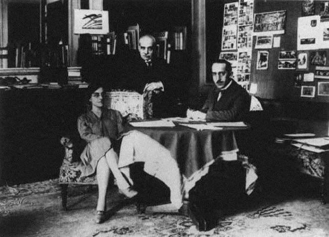 Gertrud Bing, Aby Warburg, Fritz Saxl