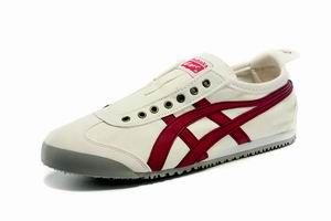 Onitsuka Tiger Mexico 66 Slip On Shoes White Red