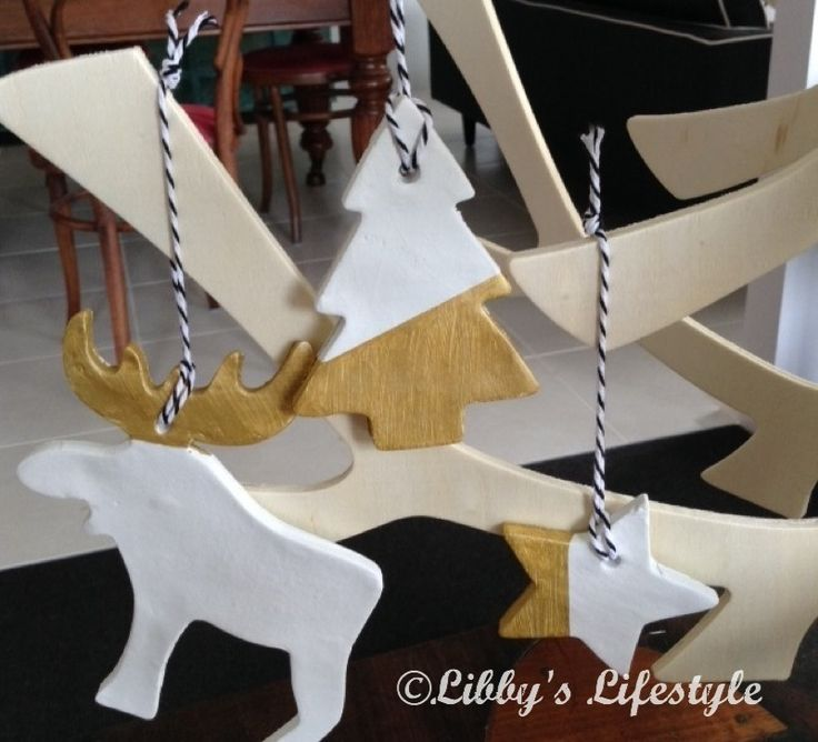 Christmas: How to make clay decorations or gift tags.