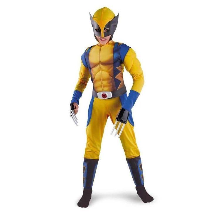 Boys X-man Logan Origins Marvel Superhero Halloween Costumes Kids Carnival Party Performance Cosplay Clothing