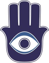 Evil Eye symbol  - protects against jealous on lookers.