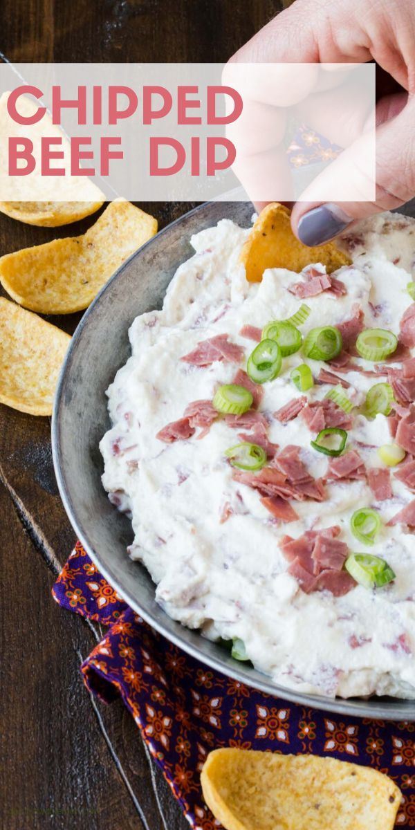 Chipped Beef Dip Garnish With Lemon Chipped Beef Dip Chipped Beef Beef Dip