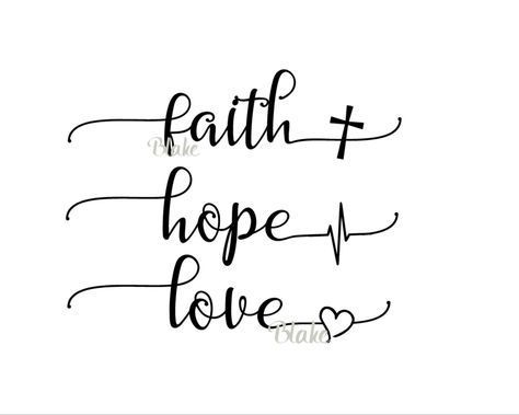 Faith Hope Love svg CUT file for Silhouette Cameo Cricut Christian Faith T-Shirt Heartbeat Cross Heart T-Shirt svg The biggest of these …