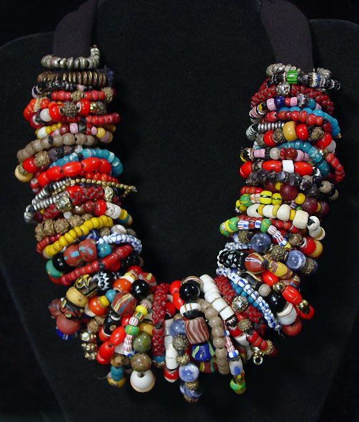 Bead Glass African Beads: 10 Best Images About A Rainbow Of African Beads On