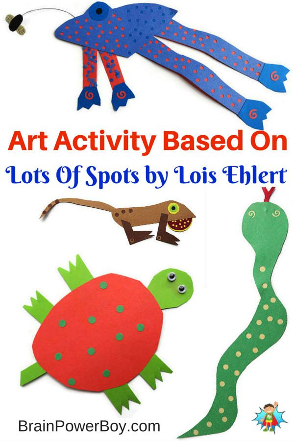 Creative art activity based on the book Lots of Spots by Lois Ehlert. Make your own spot filled animal!
