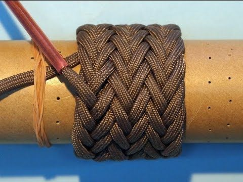 ▶ How to tie a Paracord Gaucho Knot 7L6B(2passes & 3Passes) - YouTube