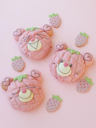苺メロンベア | お菓子・パンのレシピや作り方【corecle*コレクル】