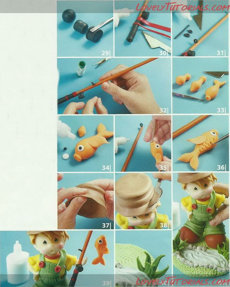 Fisherman cake topper tutorial from Lovely Tutorials....