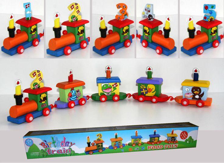 Kindergeburtstag Geburtstagszug Holzzug Holzeisenbahn Spielzeug Zahlen 1-5 Holz