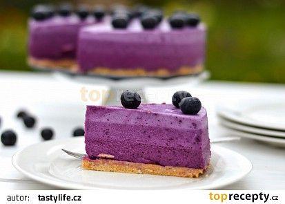 Borůvkový ombre dort recept - TopRecepty.cz
