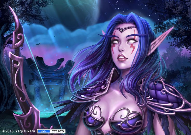 Hunter night elf by svechan.deviantart.com on @DeviantArt