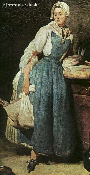 Maid by Chardin, 1739  Louvre, Paris